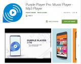 Aktuell Gratis zu haben im Google Play Store! Purple Player Pro: Music Player – Mp3 Player