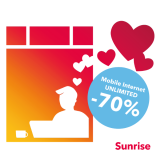 Sunrise Valentine's Deal: -70% auf Mobile Internet Unlimited