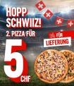 Zweite Pizza für CHF 5.- am Freitag bei Domino's!