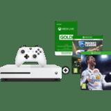 Microsoft Xbox One S 500GB Fussball-Bundle mit FIFA 18, Rocket League und 3 Monaten XBox Live bei MediaMarkt