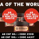Spa of the World-Minis ab einem Bestellwert von CHF 80.- gratis bei The Body Shop