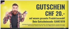 STEG GUTSCHEIN CHF 20