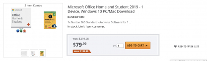 Microsoft Office Home and Student 2019 (MacOS)