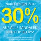 30% auf alle Sandalen und Flip-Flops bei Ochsner Shoes