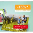 15% Rabatt auf fast alle Fotobücher und Wanddekorationen bei ifolor
