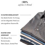 50% auf das zweite Herren-Hemd bei WE Fashion, z.B. HERREN-SLIM-FIT-HEMD MIT MUSTER für CHF 29.98 statt CHF 59.95