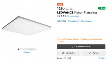 LEDVANCE Planon Frameless 60x60cm CCT