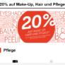 20% Rabatt auf Produkte aus den Bereichen Make-Up, Haar und Pflege bei Import Parfumerie