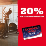 20% auf Fitnessgrossgeräte bei Ochsner Sport, z.B. Kettler Primus Hantelbank