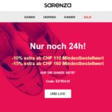 Bis zu 15% auf alles bei Sarenza, z.B. New Balance WR996 Damen Sneaker für CHF 74.38 statt CHF 83.20