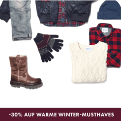 30% auf Winter-Must-Haves bei WE Fashion, z.B. Herren-Navy-Parka für CHF 160.97 statt CHF 229.95
