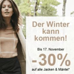 30% auf ausgewählte Jacken und Mäntel bei La Redoute, z.B. La Redoute Collections Mantel im Bouclé-Strick für CHF 111.30 statt CHF 159.-