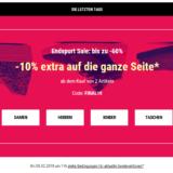 10% zusätzlich auf alle Schuhe im Sale bei Sarenza, z.B. Georgia Rose Pumps Selina für CHF 50.49 statt CHF 93.50