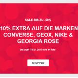 10% zusätzlich auf Converse, Geox, Nike und Georgia Rose im SALE bei Sarenza