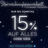 Nur heute: 15% auf fast alles bei Heine