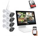 ANNKE WLAN Überwachungskamera Set Außen mit Monitor