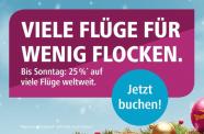 25% auf viele Flüge von Eurowings (USA ausgenommen)