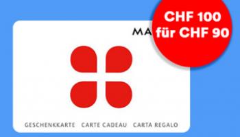 Hammer 10% Rabatt auf MediaMarkt / Manor / Zalando / AboutYou Geschenkkarte bei Offerz
