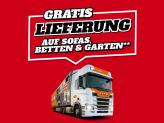 LIPO: Gratis Lieferung auf Sofas, Betten & Garten ab Bestellwert CHF 199.-