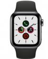 Apple Watch S5 GPS+Cell, 40mm Edelstahlgehäuse space schwarz, Sportarmband schwarz