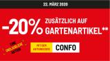 20% Rabatt auf Gartenartikel + Gratis Postversand bei Conforama (MBW CHF 30.-)