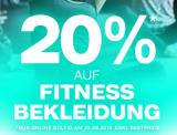 Nur heute: 20% auf Fitness-Bekleidung bei Dosenbach