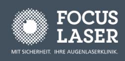 Focus Laser: Gratis Voruntersuchung für Augenlaserung