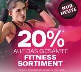 Nur heute: 20% Rabatt auf alle Fitness Artikel bei Dosenbach (SALE ausgenommen)