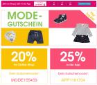 """Nur HEUTE: BABY-MARKT 20% Online und 25% in der App auf """"Mode"""""""