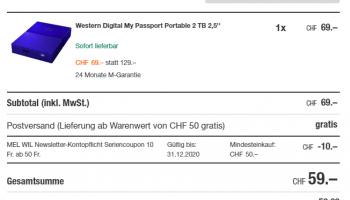 "Western Digital My Passport Portable 2 TB 2,5"""