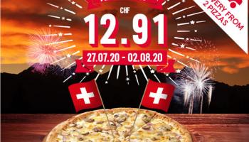 Alle Pizzen (exkl. Create-Your-Own, Half-Half und XL) bei Dominos für CHF 12.91