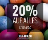 20 % auf alles bei Jeans.ch (bis 05.04.)