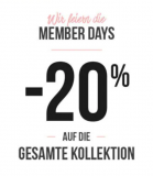 Hunkemöller: 20% Rabatt auf alles (für Members)