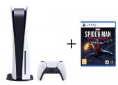 Sony Playstation 5 mit Laufwerk + Marvel's Spider-Man: Miles Morales
