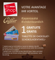 1 Cailler Classic Schokoladentafel nach Wahl im Nestlé Shop abholen
