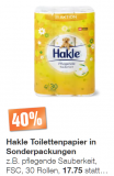 Aus aktuellem Anlass: 40% auf Hakle Toilettenpapier in Sonderpackungen