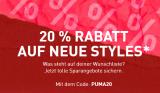 20% auf ausgewählte Artikel bei Puma (nur noch heute!)