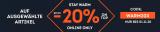 20% Rabatt auf ausgewählte Artikel bei Sportscheck