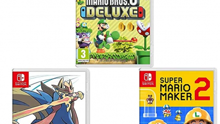 New Super Mario Bros. U Deluxe + Pokémon: Schwert + Super Mario Maker 2 bei Amazon.es