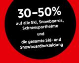 SportXX: 30-50% auf alle Ski, Snowboards, Schneesporthelme und Ski- sowie Snowboardbekleidung