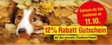 Qualipet: 12% Rabatt auf das gesamte Hunde-Sortiment