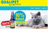 10% auf das Katzen-Sortiment + Freebie bei Qualipet