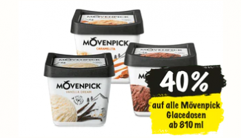 Ankündigung: 40% Rabatt auf alle Glacédosen ab 810ml von Mövenpick ab 11.3. bei Coop