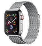 APPLE Watch Series 4 GPS + Cellular, 40mm Edelstahlgehäuse, Silber mit Milanaise Armband (MTVK2FD/A) bei microspot