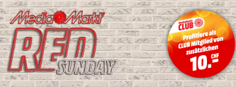 MediaMarkt Red Sunday: Gutschein zu jedem Einkauf ab CHF 250.- Einkaufswert