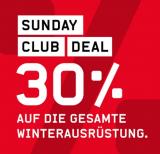 Ochsner Sport: Sunday Club Deal – 30% auf Winterausrüstung
