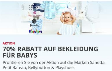 70% Rabatt auf Babykleidung bei Brack.ch