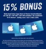 15% Bonus beim Kauf einer App Store & iTunes Geschenkkarte