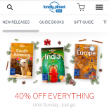Lonely Planet 40% off everything
