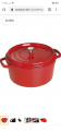 STAUB Gusseisen Bräter/Cocotte 6,7L, rot